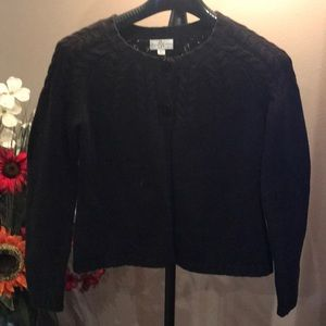 Beautiful Black cardigan with 2 buttons at top
